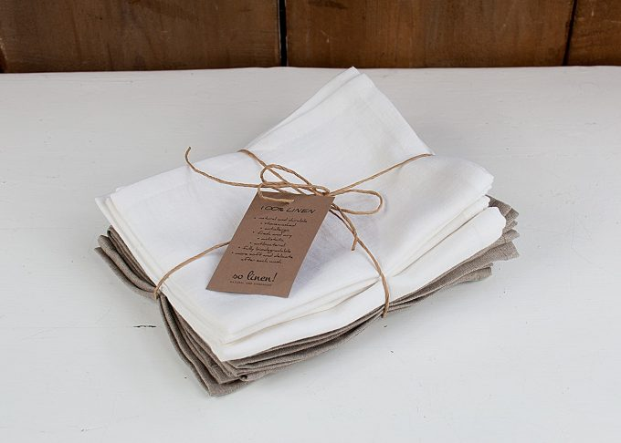 Vit kökshandduk i linne 70x45 cm | So Linen | Willekulla Lantlig Inredning - paket