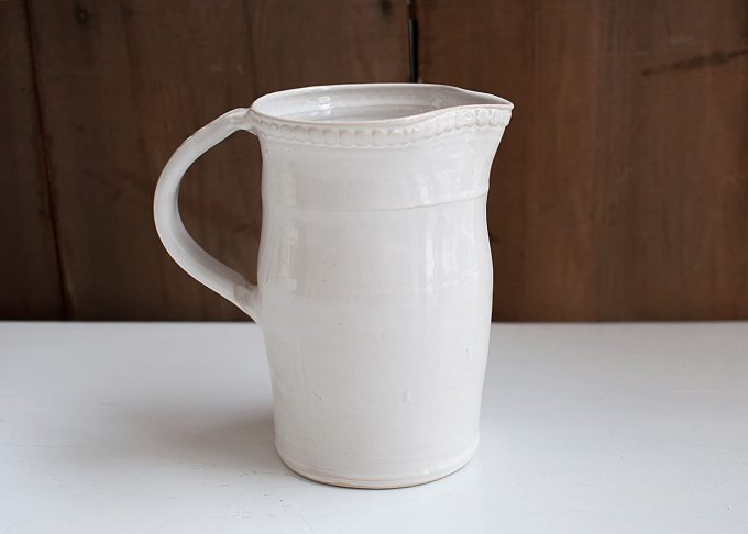 "Swedish Handmade Large Pitcher ""Pärlbård"" from Västergården"