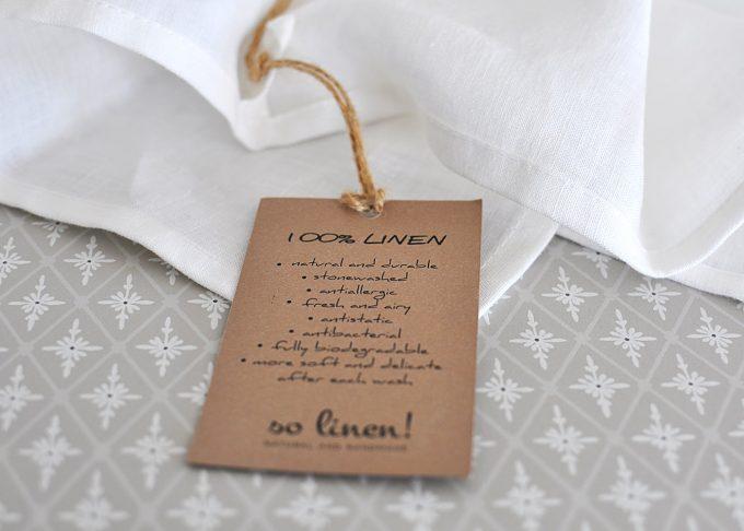 Vit kökshandduk i linne 70×45 cm | So Linen | Willekulla Lantlig Inredning | liggande