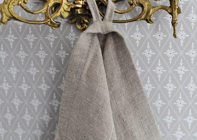 Naturfärgad kökshandduk i linne 70×45 cm   So Linen   Willekulla Lantlig Inredning   framsida
