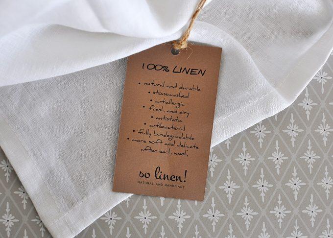 Vit kökshandduk i linne 40×60 cm | So Linen | Willekulla Lantlig Inredning | liggande