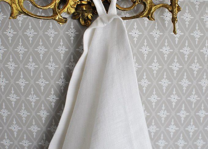 Vit kökshandduk i linne 40×60 cm | So Linen | Willekulla Lantlig Inredning | framsida