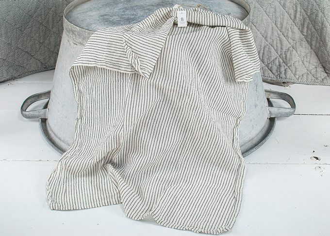 Randig handduk av bomull 50x70cm | Ib Laursen | Willekulla Lantlig Inredning - liggande