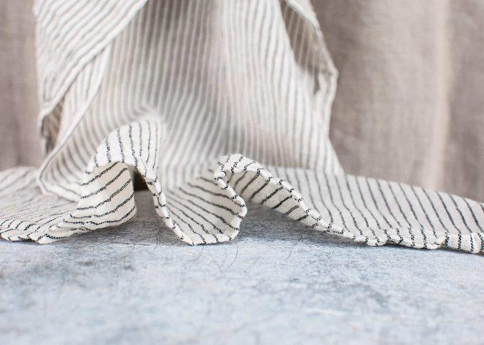 Randig handduk av bomull 50x70cm | Ib Laursen | Willekulla Lantlig Inredning - veck