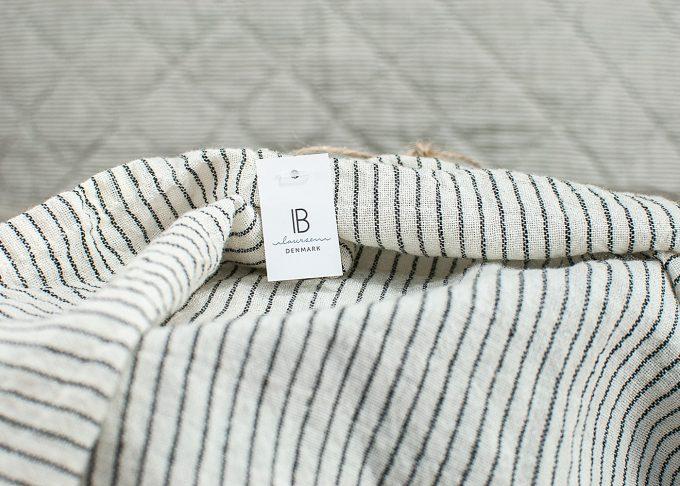 Randig handduk av bomull 50x70cm | Ib Laursen | Willekulla Lantlig Inredning - närbild