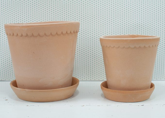 Helena Handmade Flowerpots Light Color from Bergs Potter - 2 flower pots