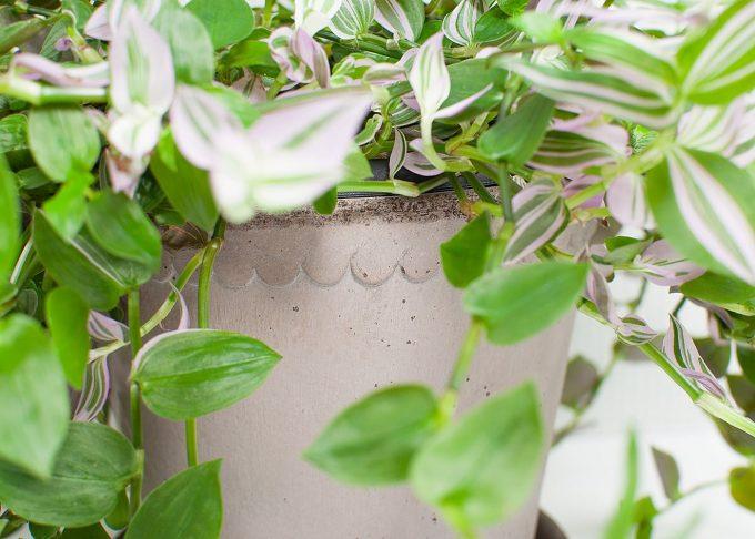 Helena Handmade Flowerpot Grey Color ⌀ 18 cm from Bergs Potter - Closeup