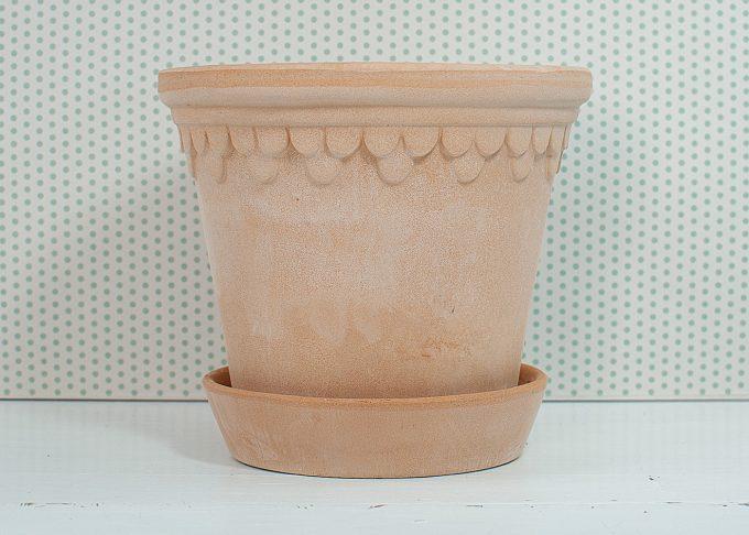 Kopenhagen Handmade Flowerpot Light Color ⌀ 16 cm from Bergs Potter - Front