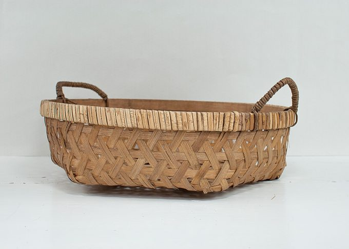 Stor flätad korg i bambu Ø 44 cm | Ib Laursen | Willekulla Lantlig Inredning
