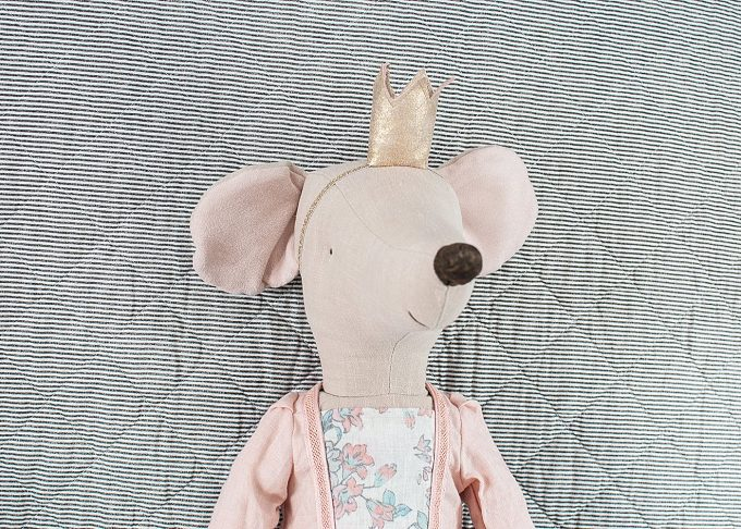 Prinsessan Rose mega mus   Maileg   Willekulla Lantlig Inredning - ansikte