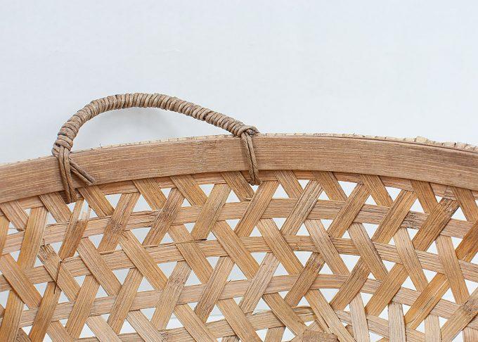 Mellanstor flätad korg i bambu Ø 40 cm | Ib Laursen | Willekulla Lantlig Inredning - sida
