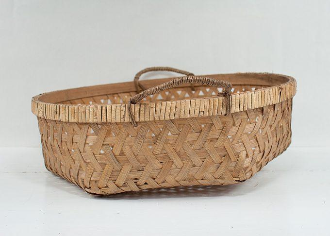 Mellanstor flätad korg i bambu Ø 40 cm | Ib Laursen | Willekulla Lantlig Inredning