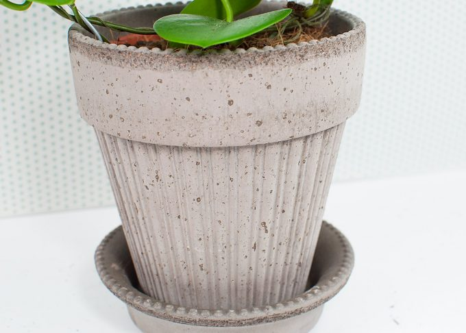 Simona Handmade Flowerpot Grey Color ⌀ 14 cm from Bergs Potter - Front