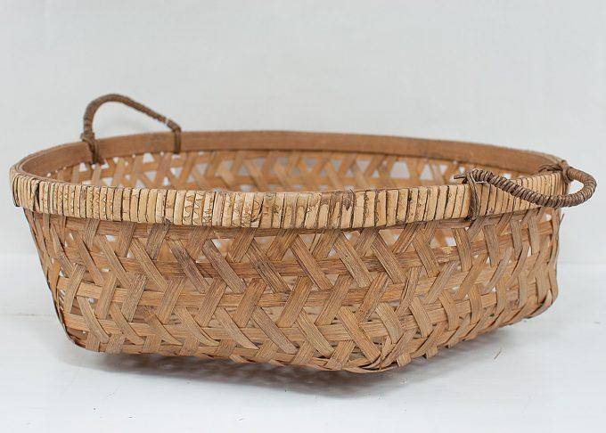 Liten flätad korg i bambu Ø 36 cm | Ib Laursen | Willekulla Lantlig Inredning
