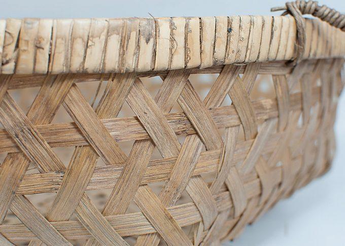 Liten flätad korg i bambu Ø 36 cm | Ib Laursen | Willekulla Lantlig Inredning - från sidan